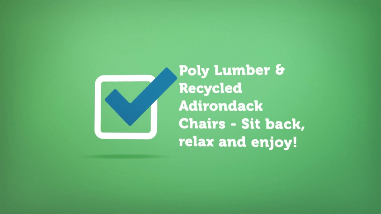 Recycled Adirondack Chairs | Premium Poly Patios :  (877-904-1234)