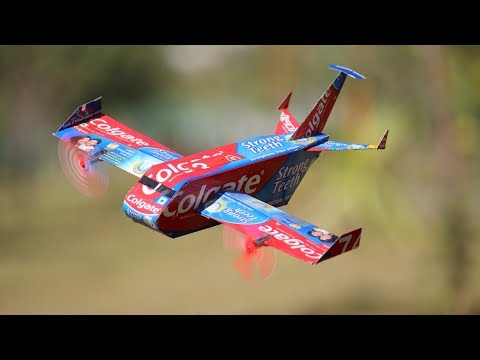 How to make a airplane - Colgate Aeroplane - DIY Airplane