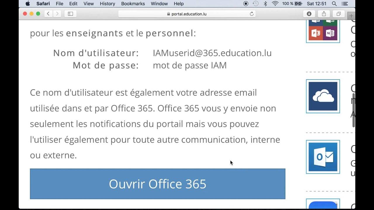 1 Connexion à Office 365 enseignant