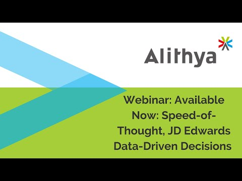Available Now: Speed-of-Thought, JD Edwards Data-Driven Decisions