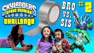 skylanders speed drawing challenge part 2 return of duct tape brother vs sister draw battle