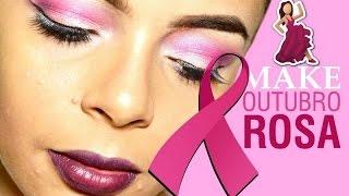 Maquiagem Outubro Rosa  -Tutorial