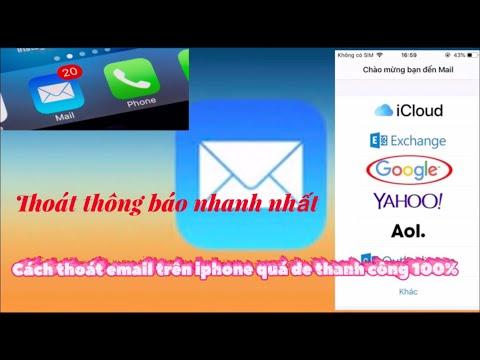 Hướng dẫn thoát email và gmail trên iPhone