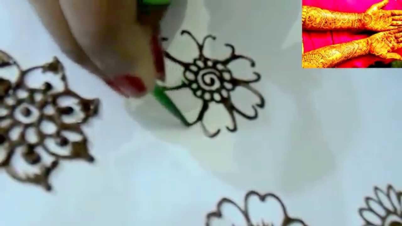 Mehndi Designs Tutorial Youtube : Tutorial henna design on hand how to make flowers youtube