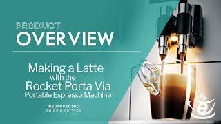 Making a Latte With The Rocket Porta Via Portable Espresso Machine