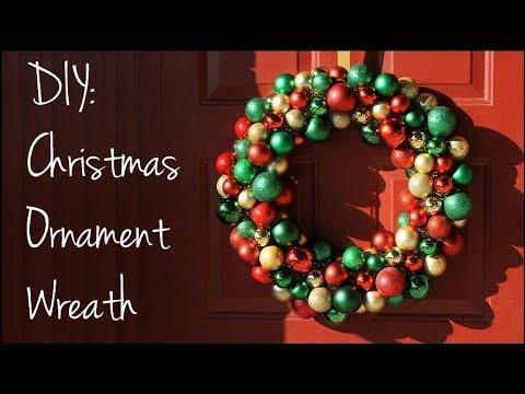 Diy christmas ornament wreath youtube diy christmas ornament wreath solutioingenieria Choice Image