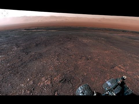 La Nasa difunde imágenes en 360° tomadas por el robot Curiosity en Marte