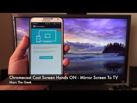 How to mirror phone to tv with chromecast