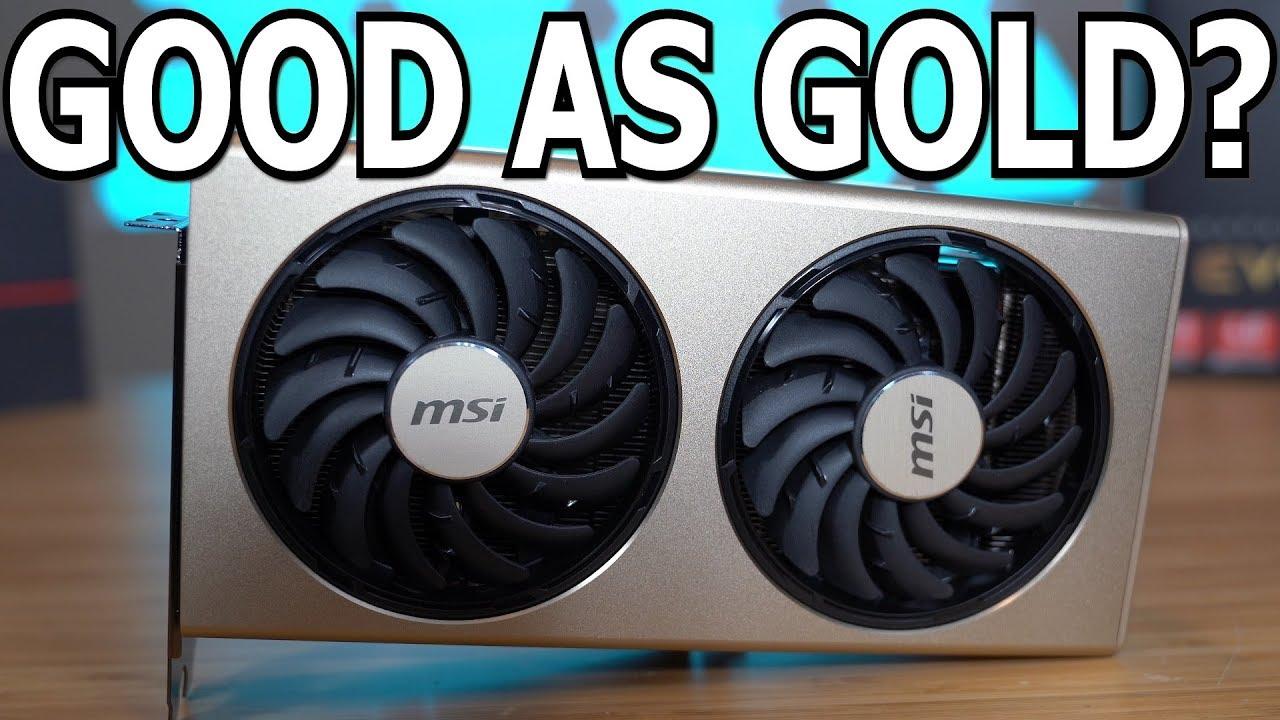 MSI RX 5700 XT Evoke OC vs  AMD Reference Design