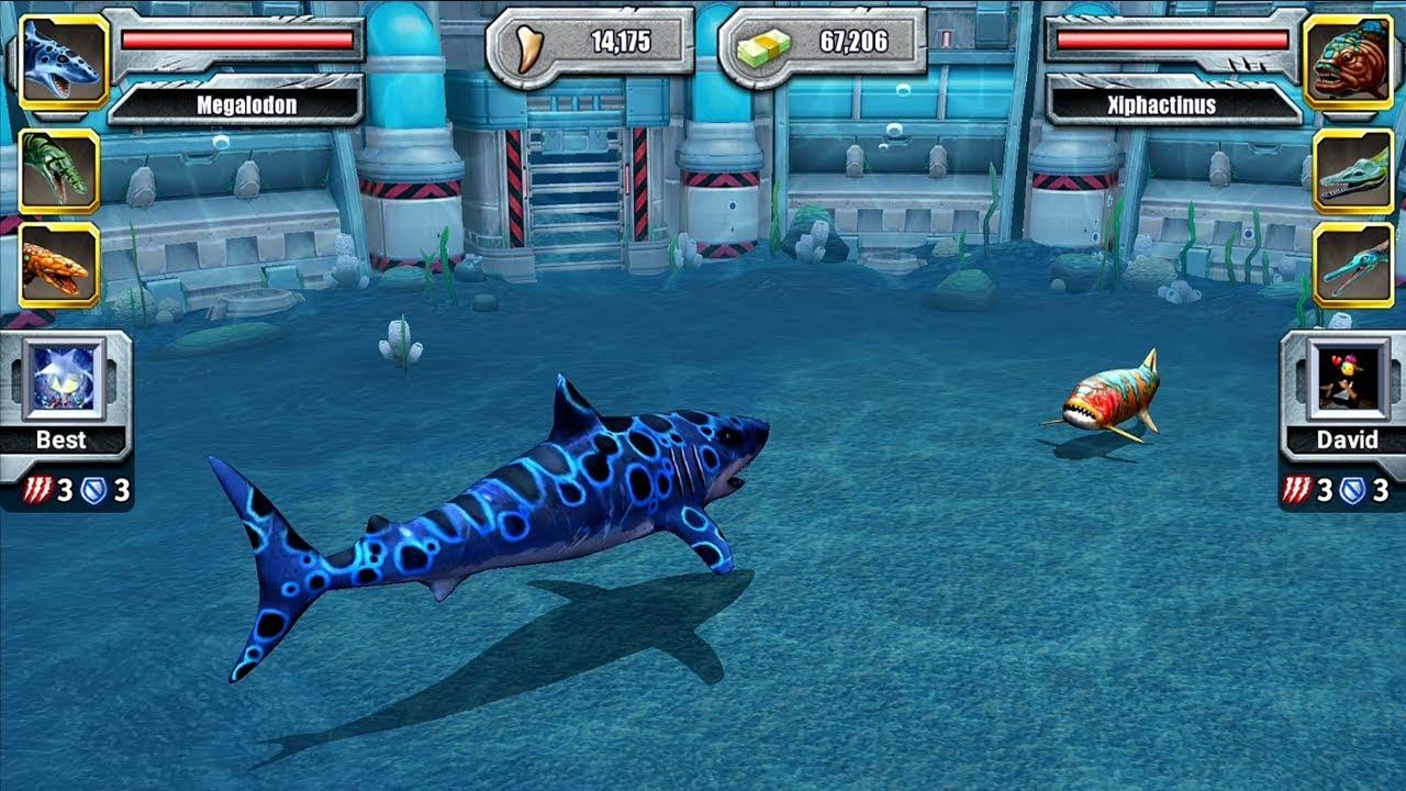Jurassic Park Builder Android Gameplay MEGALODON VS ...