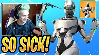 "Ninja Reacts to *NEW* Xbox Exclusive ""EON"" Skin! Leaked Skin - Fortnite Best and Funny Moments"