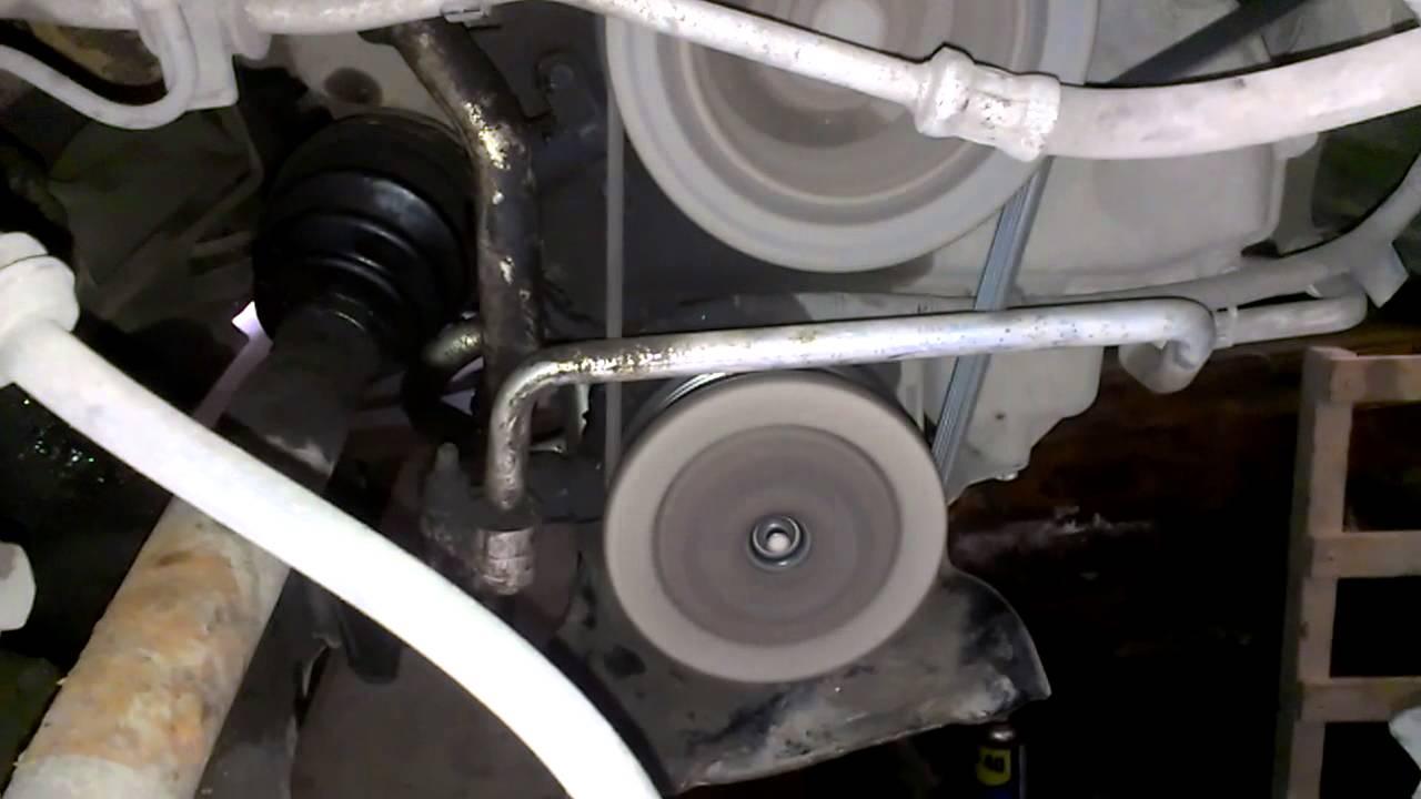 Муфта компрессора кондиционера после замены, кондей.ВКЛ