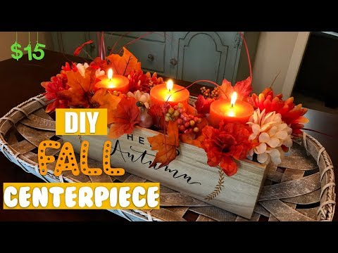 EASY DIY FALL CENTERPIECE | DOLLAR TREE + JOANNS