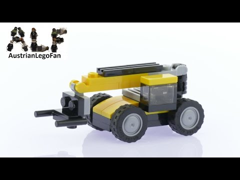Lego Creator 31041 Construction Vehicles Model 3of3 Telehandler - Lego Speed Build Review