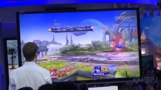 Super Smash Bros - Megaman Offscreen Gameplay E3 2013