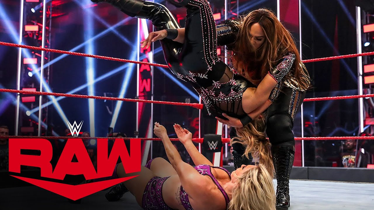 Charlotte Flair vs. Natalya vs. Nia Jax – Winner Challenges Asuka at WWE Backlash: Raw, May 25, 2020
