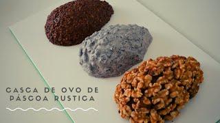 CURSO DE PÁSCOA - CASCA DE OVO DE PÁSCOA RUSTICA