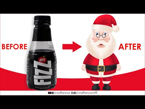Santa Claus Making | Santa Claus Making With Bottle | Christmas Decoration Ideas