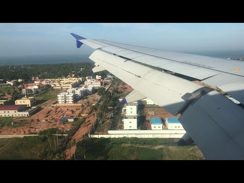 Landing at Trivandrum Airport from Sharjah at Indigo Airlines