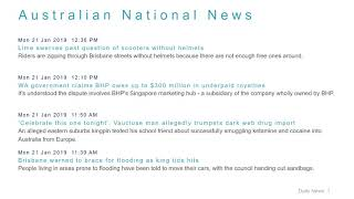 National News Headlines for 21 Jan 2019 - 1 PM Edition