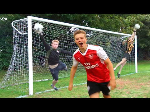 FOOTBALL CHALLENGES WITH THE WORLD'S BEST GOALKEEPERS