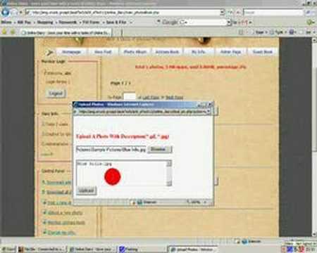 PHP Javascript CSS MySQL Online Diary