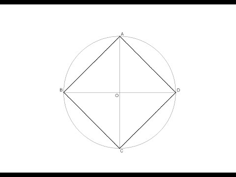 How to draw a square inscribed in a circle