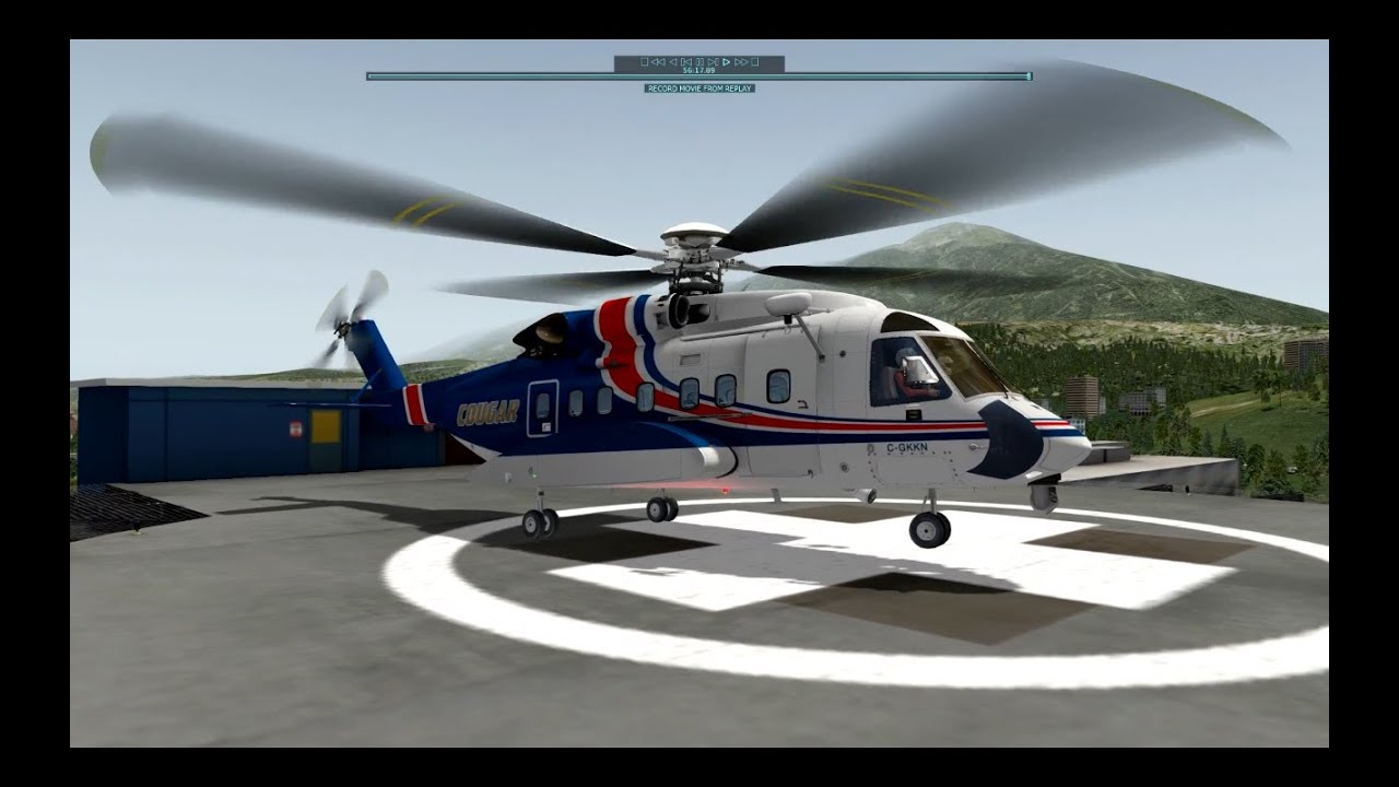 X-Plane 10 - Innsbruck Hospital Helipad landing n#2 - YouTube