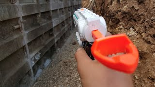 First Person Nerf War: Construction site Warfare