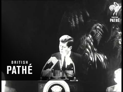 """Kennedy's Pledge """"We Will Not Abandon Cuba To Reds"""" (1961)"""