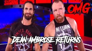 WWE Dean Ambrose Returns & Attacks Dolph Ziggler & Drew McIntyre:Raw,13 August 2018