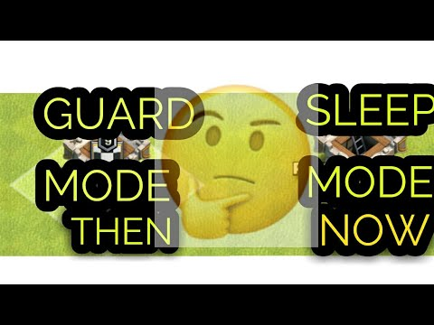 CLAN CASTLE GUARD AND SLEEP MODE L NEW  THING WITH TH 12 L COC GURU