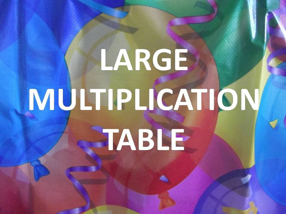 Large Multiplication Table 11 20 Youtube