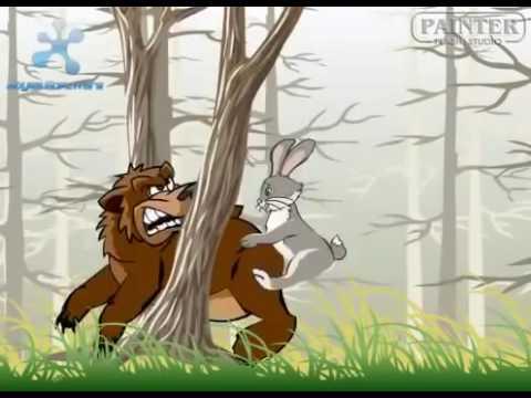 заяц и медведь, видео анекдот