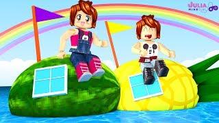 ROBLOX-WATERMELON BOAT vs PINEAPPLE (Build A Boat For Treasure)