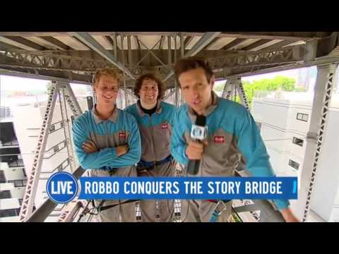 Robbo Sets Out To Climb The Story Bridge