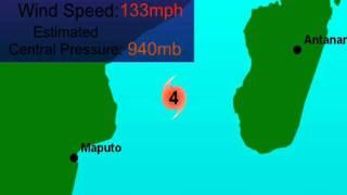 Tropical Cyclone Funso (2012), Animation