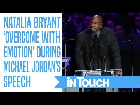 Kobe and Vanessa Bryant's Daughter Natalia 'Overcome With Emotion' During Michael Jordan's Speech