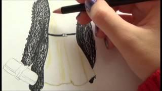 ♥Tutorial Dibujo Top Model~Vestido nochevieja♥
