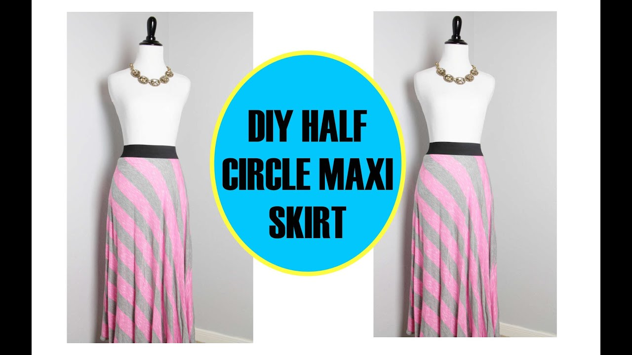 DIY Maxi Skirt, Half Circle Skirt, Sewing project for beginners ...