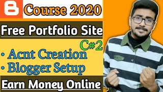 Earn money online from website | how to create a blogger account course 2020 c#2