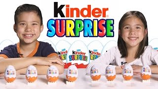 More KINDER SURPRISE EGGS!!! Let s crack open 10 more!