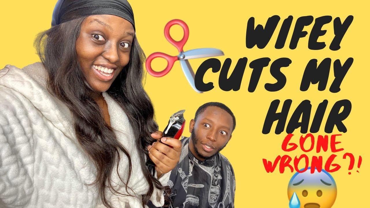 WIFE CUTS MY HAIR IN QUARANTINE (GONE WRONG)