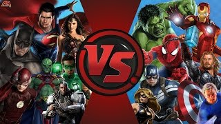 JUSTİCE LEAGUE vs AVENGERS! TOPLAM SAVAŞ! (DC vs Marvel) Çizgi film Dövüş Kulübü Bölüm 130