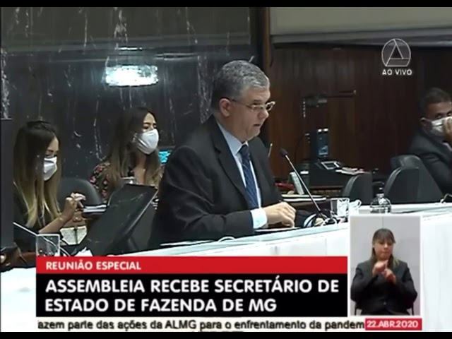 Secretário de Fazenda responde questionamentos de parlamentares na ALMG