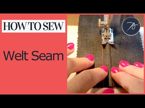 How to sew a Welt Seam