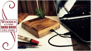 Wooden External Hard Drive Enclosure