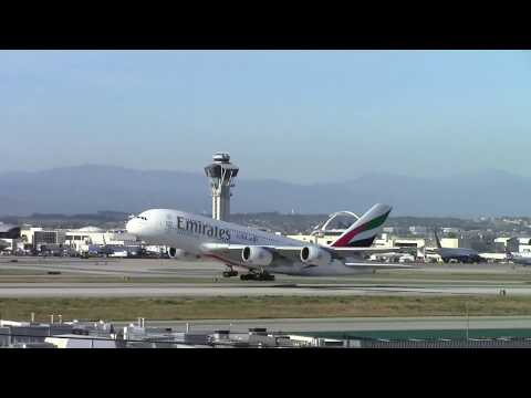 Plane spotting heavies at LAX (With Air Traffic Control Audio)
