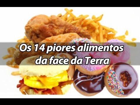 Os 14 piores alimentos para sua saúde