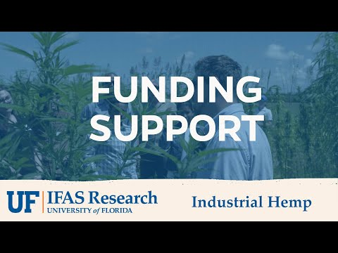 UF/IFAS Industrial Hemp Funding Support